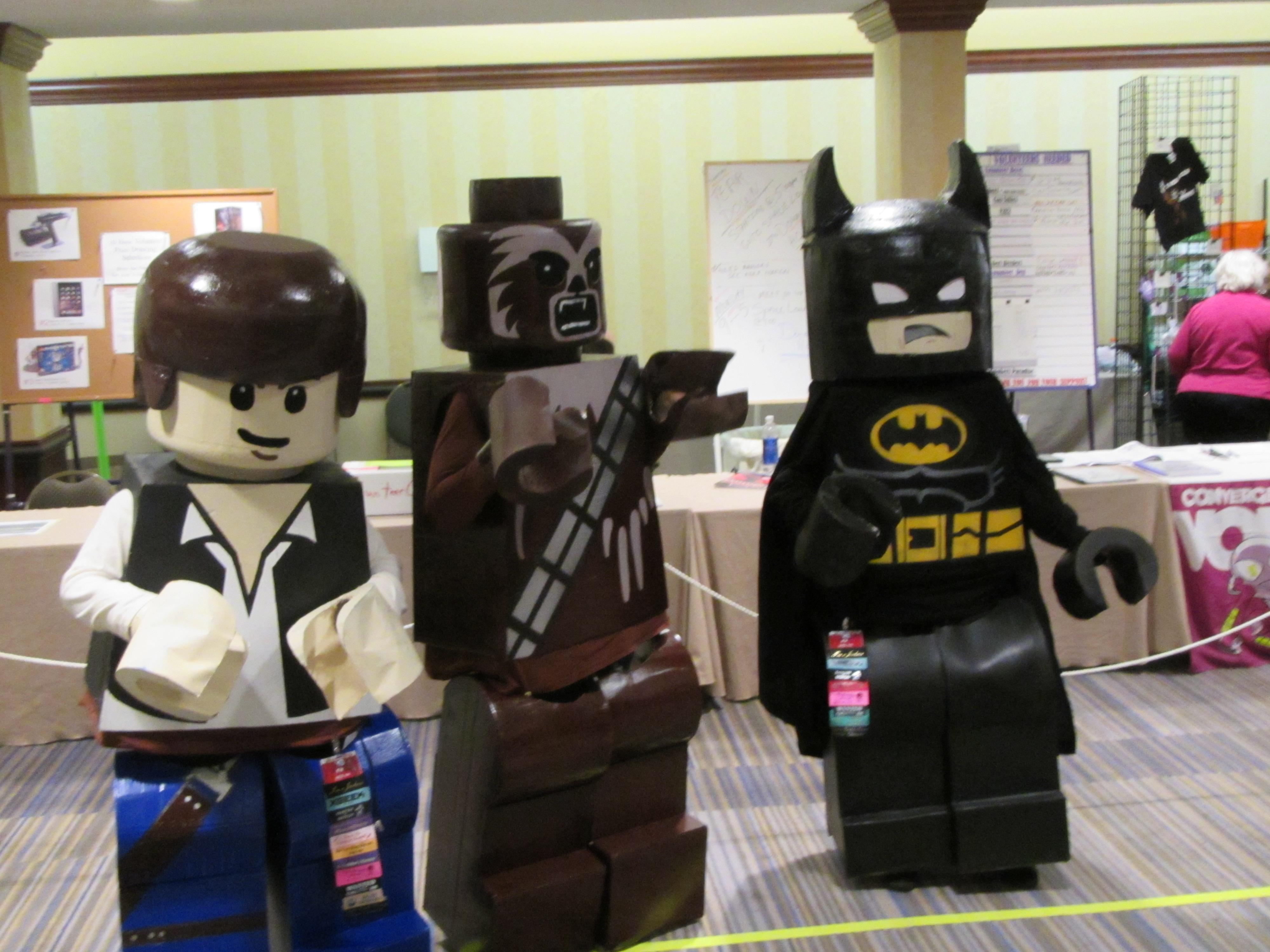 Lego-inspired cosplay at CONvergence, July 2015