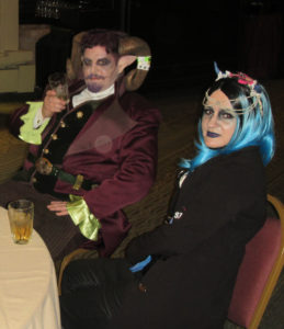 Two steampunks who took the Magic and Mysticism theme seriously.